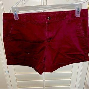 Beautiful Deep Burgundy shorts!